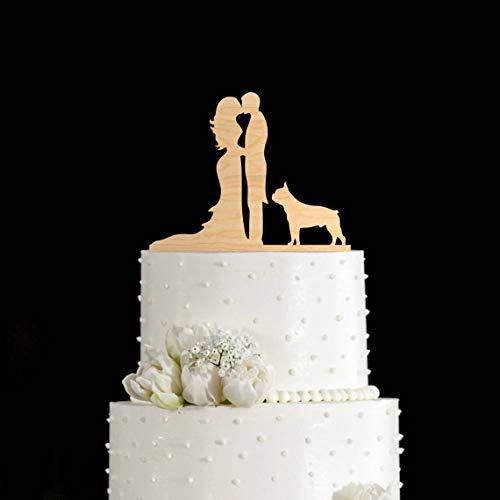 Tortenaufsatz, Motiv: Boston Terrier / Boston Terrier, für Hochzeitstorten