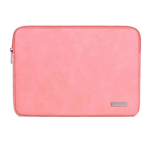 Hjkl Fashion Soft Pu Leather Waterproof Laptop Bag Pouch Sleeve Case Cover For Macbook Air Pro 13.3/14 /15.6 Inch Laptop Bag (Color : Pink, Size : 13.3 inch)