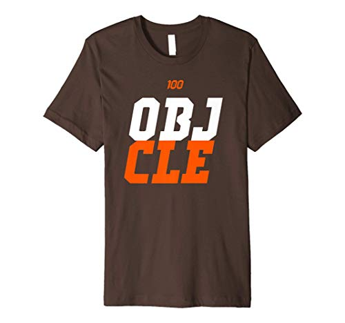 OBJ to Cleveland Premium CLE T-Shirt (Brown and Gray)