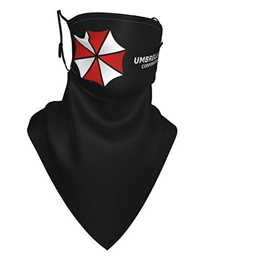 Umbrella Corporation Face Mask with Stretchy Hanging Ear Breathable Neck Gaiter Windproof Face Shield with 0 Filter