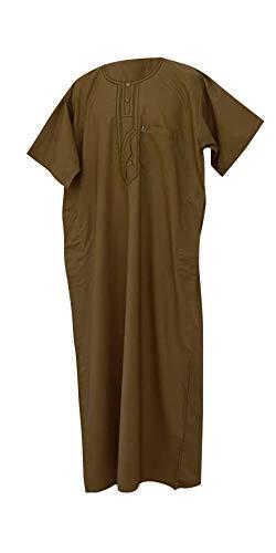 Desert Dress - Boubou Marocain Arabe Homme DishDash Jubba Habit de Prière, Beige, 60