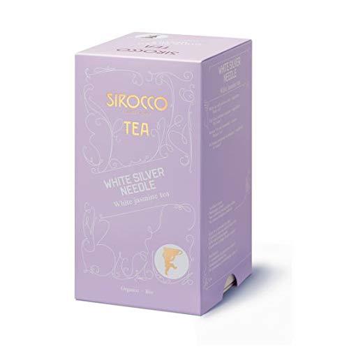 SIROCCO TEE - WHITE SILVER NEEDLE Weisser Organisches Tee mit Jasminduft - 20 Teebeutel