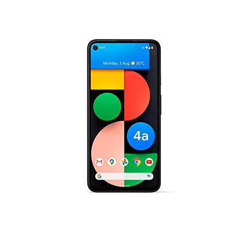 Google Pixel 4a with 5G (2020) G025I 128GB + 6GB RAM Factory Unlocked 5G Smartphone (Just Black)