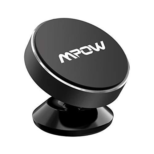 Mpow Soporte Magnético Coche, Soporte Móvil Coche para Salpicadero, Soporte Imanes para iPhone 12 Pro Max/12 Pro/12/11/SE/ XS/XR/X/SE/8/7/6, Galaxy S20/S10/S9/S8/S7/S6, HTC One, Sony Xperia, Negro