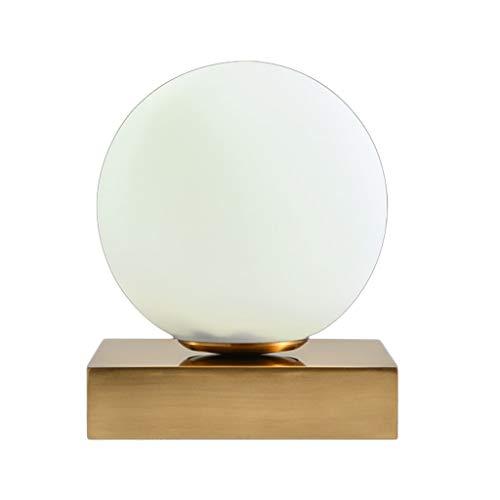 Indoor LED bureaulamp, Scandinavisch eenvoudig lampenkap van glas sferisch slaapkamer besparen nachtkastje verlichting, E14
