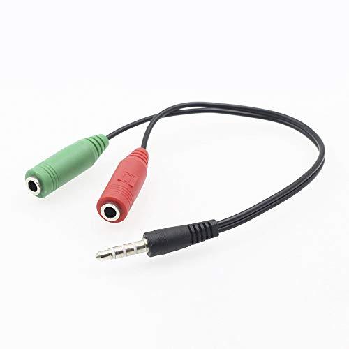 Adaptador, FGNS AD069 Cable Adaptador divisor audio para auriculares y micrófono jack 3.5 mm