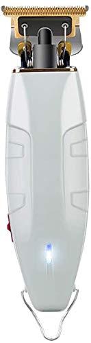 Snongh Cortapelos Eléctricos,Clippers para El Kit De Corte De Pelo con Cuchilla Recortador 5 Peines Guía para Barbero,Recortador De Pelo De Carga USB para Hombres-Blanco 15cm