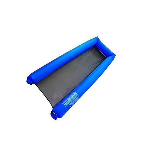 BANGSUN Colchoneta hinchable de malla de 178 x 70 cm, para tumbona de piscina, cama de aire, color azul