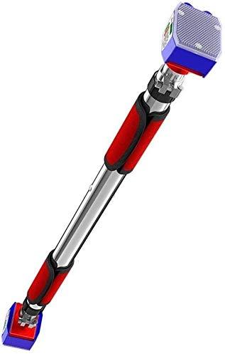 Barra de dominadas portátil para la puerta de la barra de dominadas de la barbilla, apretones resistentes y fáciles de gimnasio, longitud ajustable