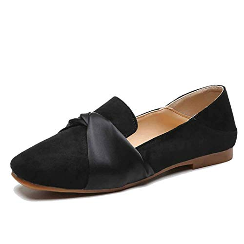 Vrouwen Zomer Loafers Suède Mode Ondiepe Flats Retro Vierkante Teen Slip Mocassins Elegant Kantoor Carrière Casual Single Shoes