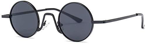 ZYIZEE Gafas de Sol Gafas de Sol Unisex Gafas de conducción Hombres Mujeres Gafas Gafas clásicas Gafas Redondas únicas Gafas de Caja pequeña-C1