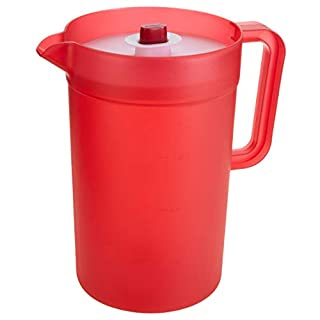 GoodCook 1 Gallon Plastic Pitcher with Vacuum Suction Seal Lid, juice, water, mixed drinks, Clear and Red (B07TT89VVB) | Amazon price tracker / tracking, Amazon price history charts, Amazon price watches, Amazon price drop alerts