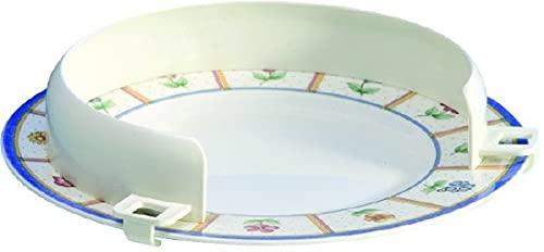 Reborde auxiliar para platos, Plástico, Blanco, Mobiclinic