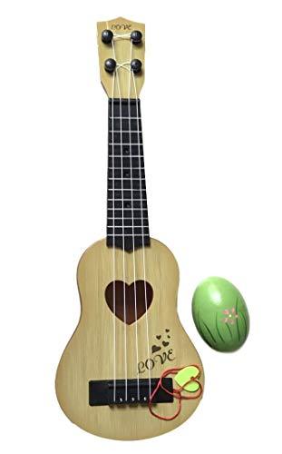 SWANBELLE おもちゃ ウクレレ 子供用 ミニギター 撮影小物 エッグシェイカー 4弦 (ベージュ, 39�p)