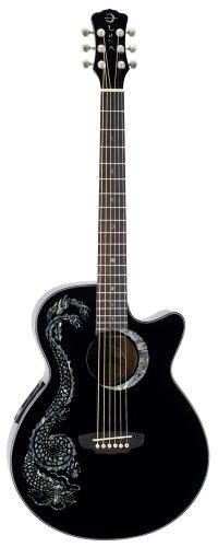Luna FAU DRA BLK - Guitarra electroacústica