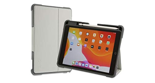 ArmorCase para iPad de 10,2 Pulgadas (2019/20), 7/8th Gen, a Prueba de Golpes, Soporte con Parte Superior Desmontable con lengüeta magnética, función de Reposo y activación, Color Gris