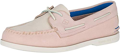 Sperry Women's Authentic Original Plushwave Boat Shoe, Blush Multi, 5