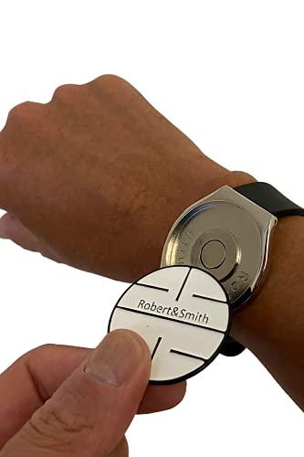 [ロバート・アンド・スミス] ゴルフ マーカー ボールマーカー ゴルフ用品 アクセサリー おしゃれな腕時計タイプ ギフト/コンペ賞品にも最適 ギフトボックス入り