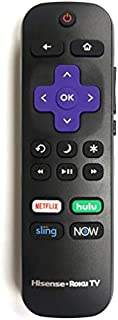 Hisense Roku TV Remote w/Volume Control & TV Power Button for All Hisense Roku TV (Roku Built-in TV, NOT Roku Player Connect w/TV)