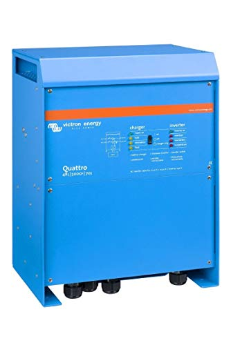 Victron Energy Quattro 5000VA 48-Volt Pure Sine Wave Inverter 70 amp Battery Charger