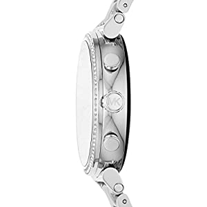 Michael Kors Access Women's Sofie Heart Rate' Touch-Screen Smartwatch with Stainless-Steel Strap, Silver, 18 (Model: MKT5061)