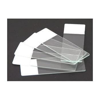 Seoh Microscope Colored End Label Microbiology Slides White Pk Of