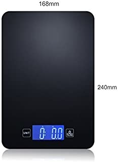 Lyreck Tech Digital Bluetooth Kitchen Postage Jewelry Scale with Nutrition App for a Healthy Lifestyle or Bodybuilding. Multifunction, Touch Screen for Easy Cleaning, Slim Design for Easy Storage.