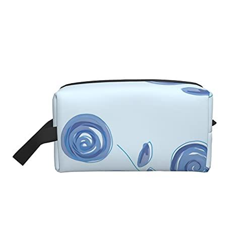 mengmeng Kosmetiktasche Kosmetiktasche Posies – Puderblau Reise Beauty Box Make Up Case Organizer