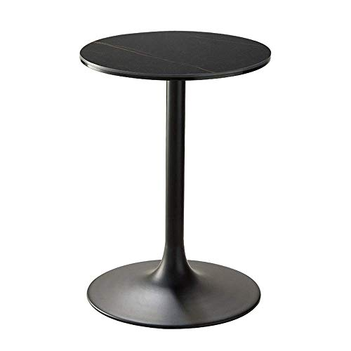 GAOLIM Madera maciza pequeña mesa redonda sala de estar negro hierro arte teléfono lámpara mesa sofá mesa mesa mesa balcón ocio mesa centro