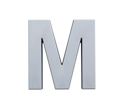 M - Letras grandes de 20 cm, decorativas, blancas pintables, todo el alfabeto y símbolos, para iniciales, Hashtag, boda, amor, para pegar en la pared o en el estante