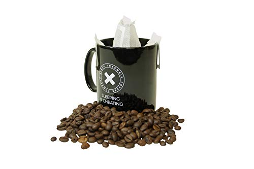 Black Insomnia Pour Over Coffee Bags - The Strongest Coffee in the World -100% Biodegradable x 16