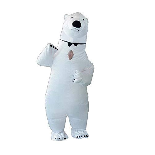 CSJD opblaasbaar kerstman-kostuum, schattige ijsbeer