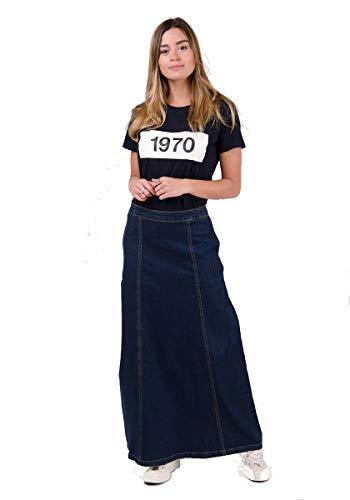 Matilda Langer Jeansrock - Dark wash Maxi-Rock Damen Mode EU 36-50 MATILDADW-14