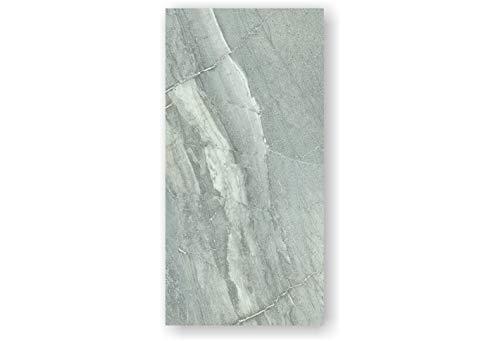 2 Stück Feinstein Fliesen CANYON GRIGIO (60×120×1cm) poliert grau Wandfliesen Küche Wohnraum Bad Feinsteinzeugfliese Verkleidung