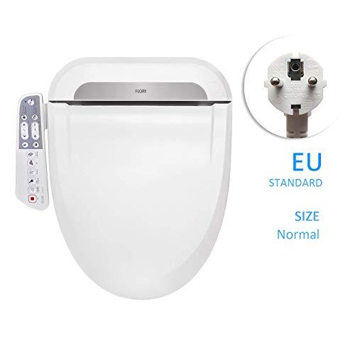 FLORYEU Bidet Elektrischer digitaler intelligenter Toilettensitz FDB600, energiesparende Technologie, umweltfreundlich, Sitzheizung, warmer Wind und Luft trocknen (Normal-EU)