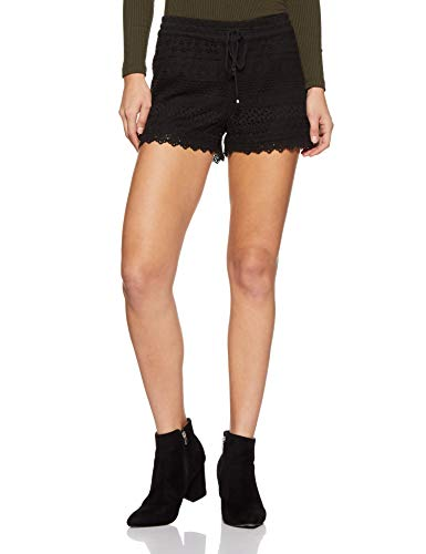 VERO MODA Damen VMHONEY LACE EXP Shorts, Schwarz (Black), 36 (Herstellergröße: S)