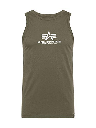 ALPHA INDUSTRIES Herren Tank Basic DREI Farben (M, Dark Olive)
