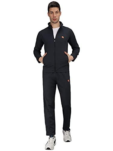 GALLUS Digonal Men's Solid Zipper Tracksuit