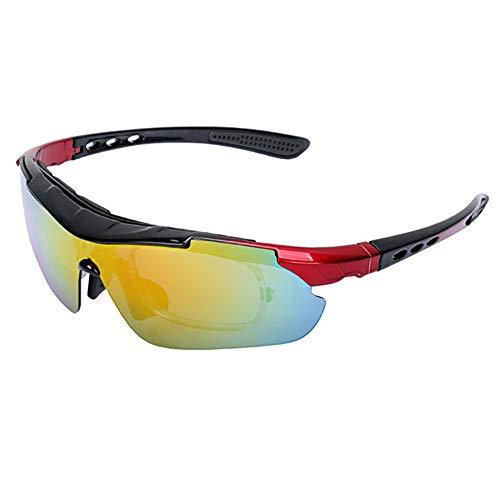 XWL HD Lenses Windproof Dustproof Outdoor Sports Glasses,Cycling Glasses Mountain Bike Glasses UV400 Lens Sunglasses Men and Women Polarized,C