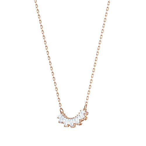 Swarovski Collana Sunshine, Bianco, Placcato Oro Rosa