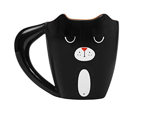 Thumbs Up! Mug Tazza Black Cat, Ceramica, Nero, 12.7x10.2x8.7 cm
