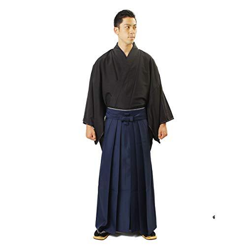 Fuuka Japanese Men Hakama Plain Umanori Type Blue M