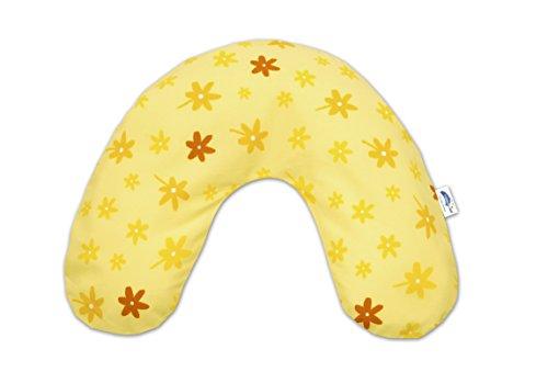 Theraline 04004100 Bezug für Nackenkissen, klein 85 x 19 cm, blümchen gelb