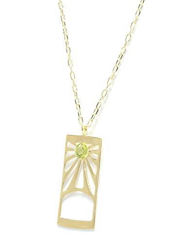 [キャンディ] イエローゴールド 花柄 ネックレス K10イエローゴールド ペリドット