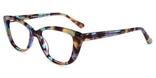 Firmoo Occhiali Luce Blu Bloccanti per il Mal di Testa il Blocco della Cefalea UV, Occhi di Gatto Occhiali per Computer Donna, Pattern