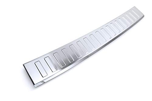 tuning-art BL957 Ladekantenschutz mit Abkantung Modellspezifisch, Farbe:Silber