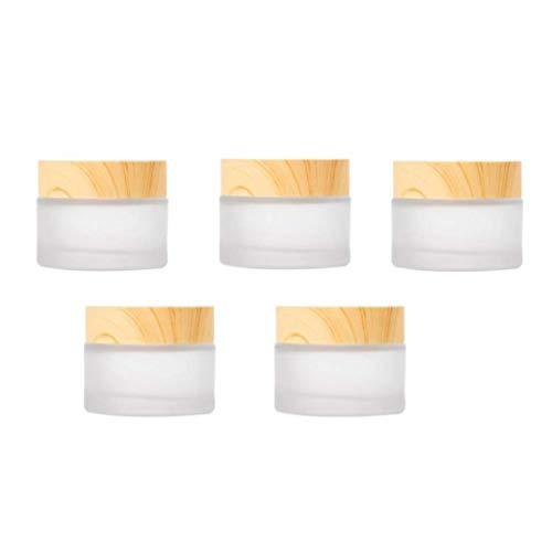 NaiCasy Envases cosméticos Crema Tarro Muestra Ollas cosmético compone de Cristal vacío...