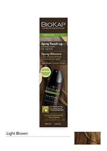 Bios Line BioKap Spray pour retouches de teinture, châtain clair, pour recouvrir les racines en un instant, 75ml