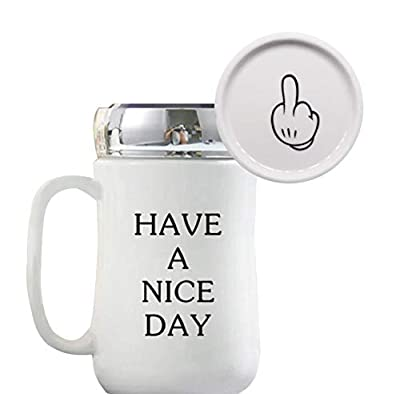 Middle Finger Nice Day Joke Travel Tumbler