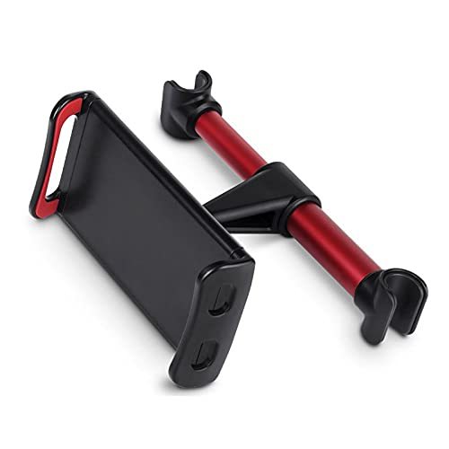 ZBQLKM Car tablet holder Car Headrest Mount, Tablet Headrest Holder - Stand Cradle with 360° Rotation,Compatible with 4.7-10.5' Cellphones and Tablets (Color : Red)